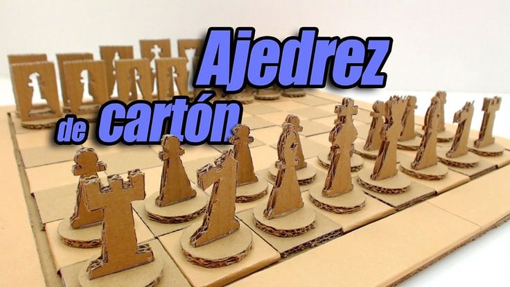 Juego de Ajedrez de cartón, hecho totalmente con materiales reciclados | Aprender manualidades es facilisimo.com