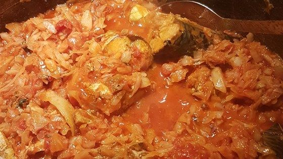 This African stew of cabbage and tomatoes also features canned mackerel.