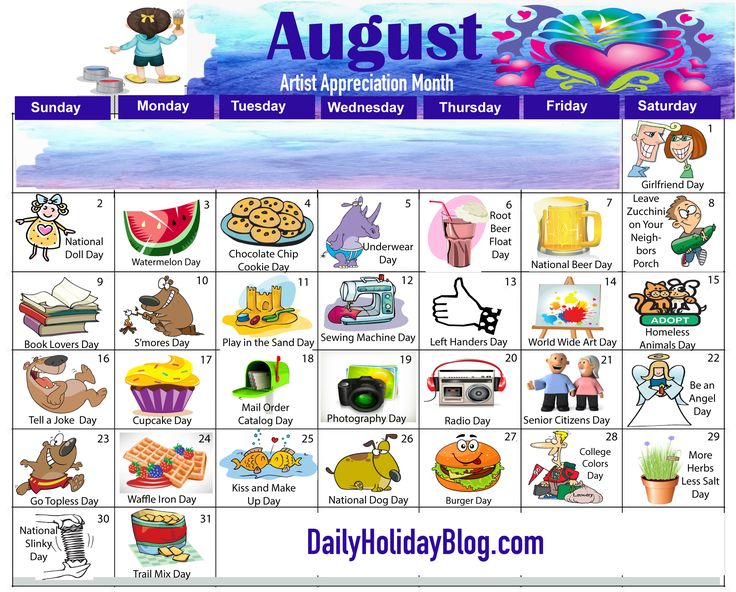 Download your free August calendar!