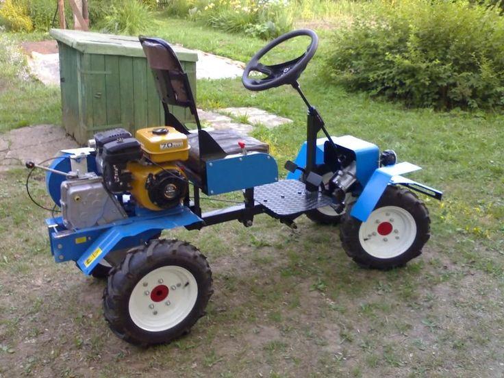 Самодельный минитрактор из мотоблока: Мини-трактор из ...