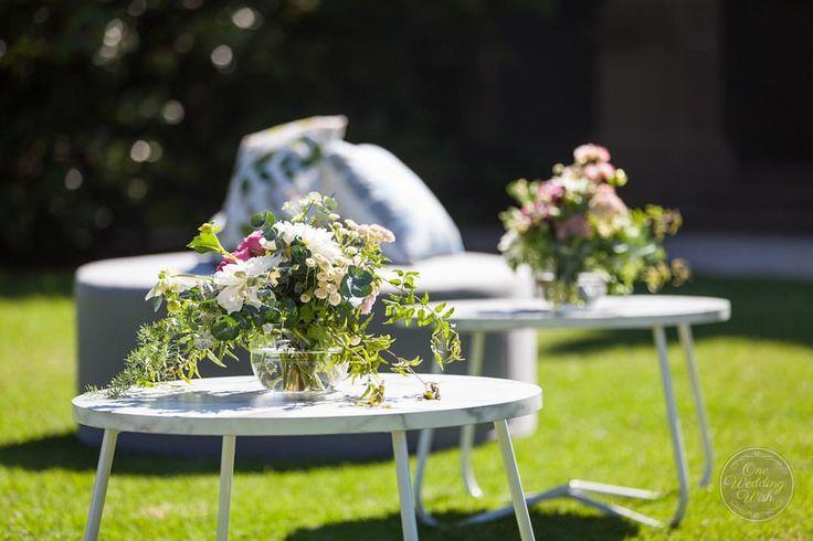 Gorgeous summer wedding at Bursaria's The Refectory in Werribee Gardens. | Styled by One Wedding Wish | www.oneweddingwish.com.au | www.instagram.com/oneweddingwish