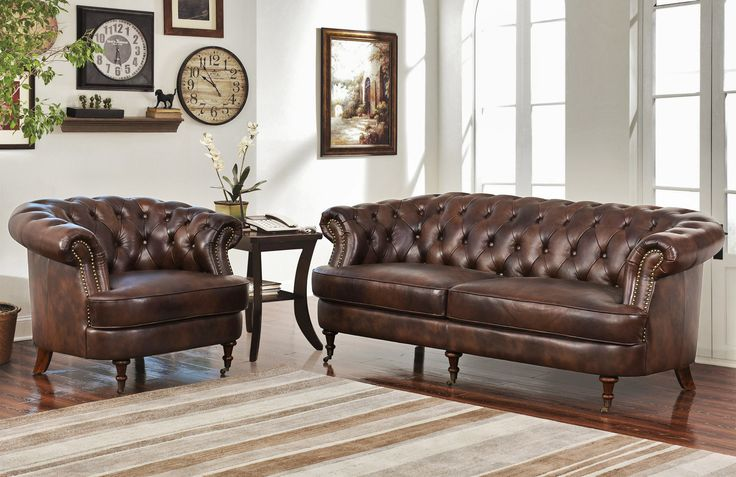 Ater 2-Piece Leather Living Room Set