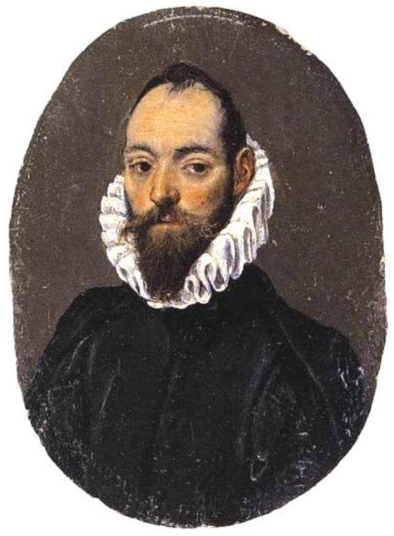 Retrato de un hombre - El Greco, c.1586