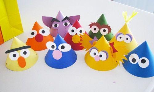 Divertidos gorros de fiesta Barrio Sésamo | Fiestas infantiles y cumpleaños de niños