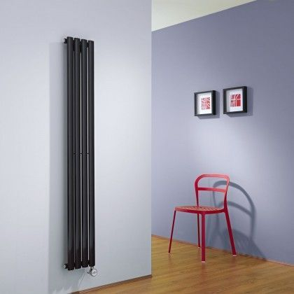 Milano Aruba Slim Electric - Black Space-Saving Vertical Designer Radiator 1600mm x 236mm - http://www.bestheating.com/milano-aruba-slim-electric-black-space-saving-vertical-designer-radiator-1600mm-x-236mm.html