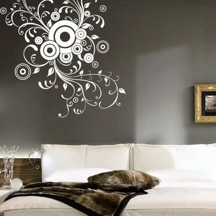 Abstract Wall Decals | Room Wall Decor On Abstract Wall Stickers Decals For Living  Room Wall