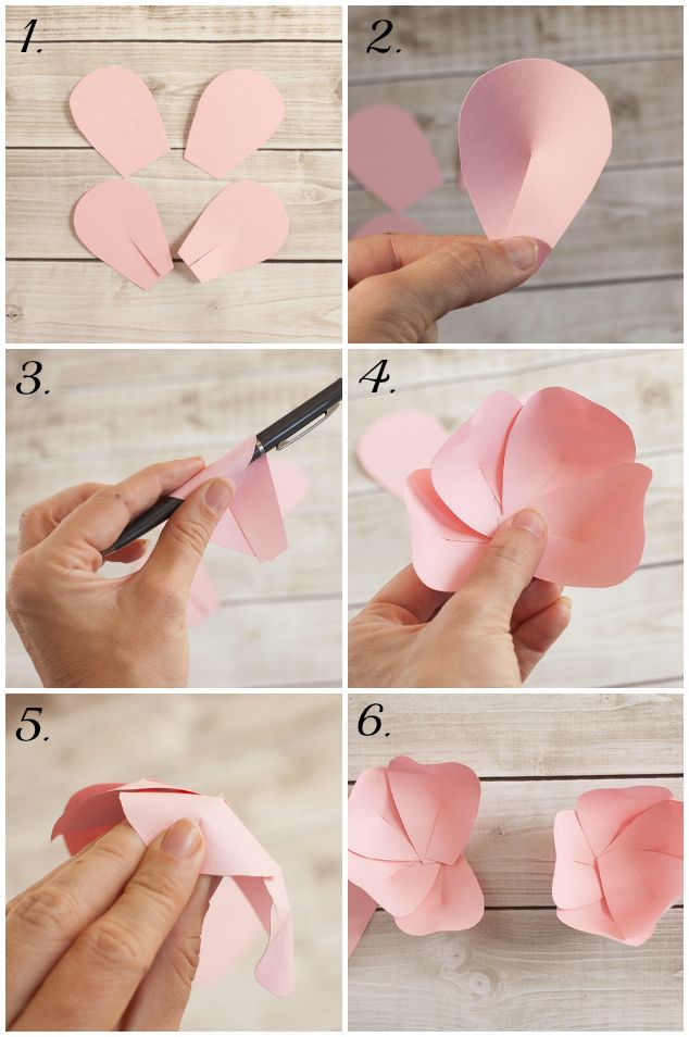 How to make a paper flower tutorial