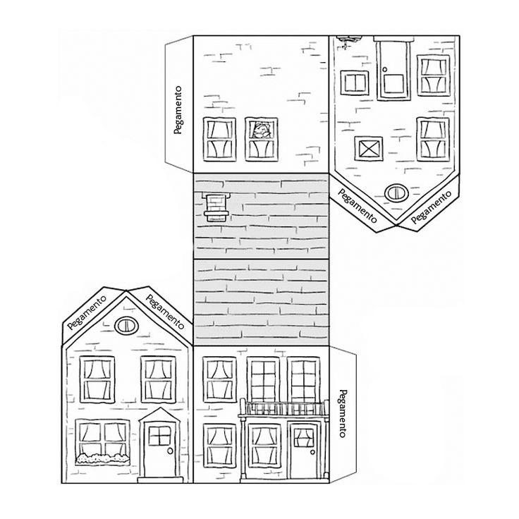 Recortables de casas de muñecas (I)   Dibujos para recortar y colorear