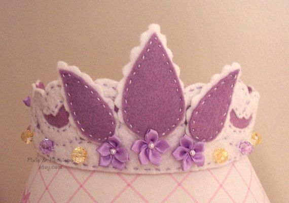 Rapunzel Tiara Princess Crown in White and by pixieandpenelope