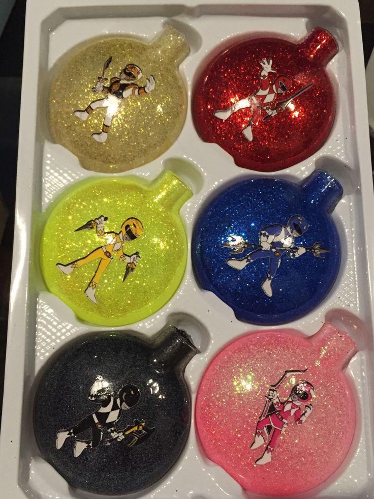 Power Rangers Glass Ornaments (set of 6) by PrincessOfPinterest on Etsy https://www.etsy.com/listing/251172819/power-rangers-glass-ornaments-set-of-6