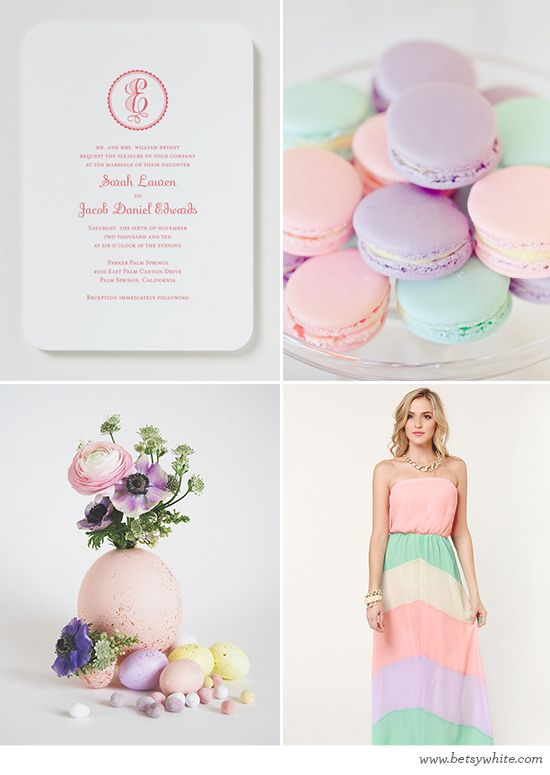 Pretty Easter Pastels - also perfect inspiration for a spring bridal shower! // Flights of Fancy: Bridal Showers