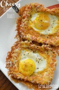Cheesy Baked Egg Toast title