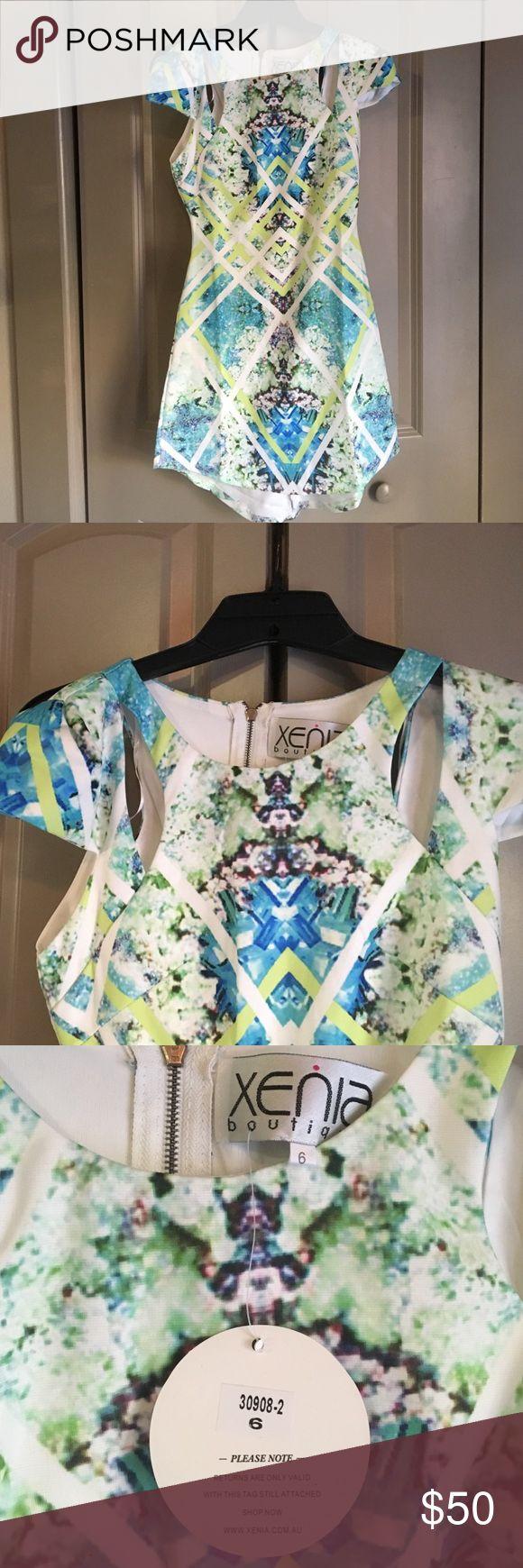 Green Zara Dress Size 6 from Xenia Boutique, AUS Dresses Mini