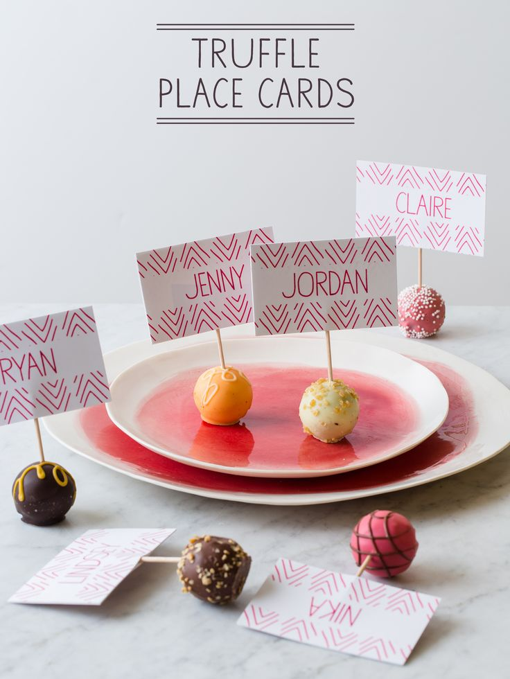 if I ever get fancy in my dinner hosting, I will totally consider using truffles as place cards!