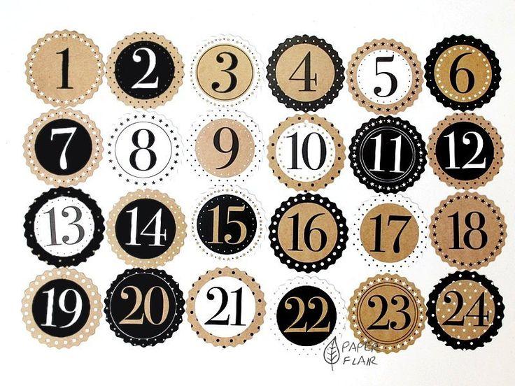 116 besten numbers bilder auf pinterest zahlen for Adventskalender pinterest