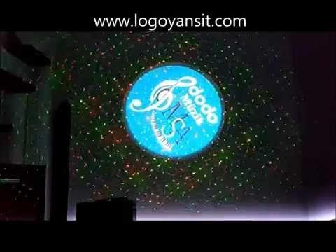 Logo Yansıt Dodo Müzik Dönen Logo ve Lazer uygulaması - YouTube