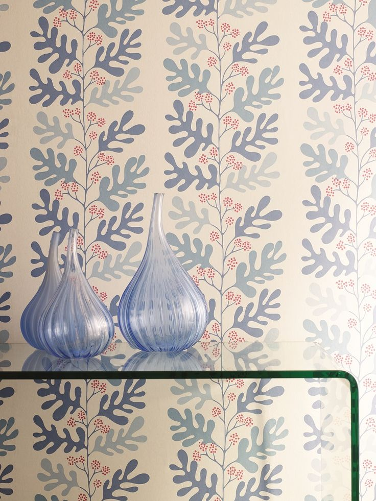 Malmo wallpaper design from the new Papavera collection by Sanderson.