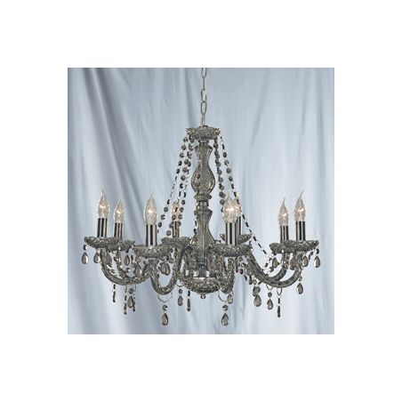 Grey glass chandelier
