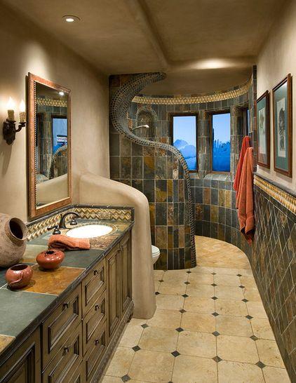 Southwestern Bathroom by Urban Design Associates