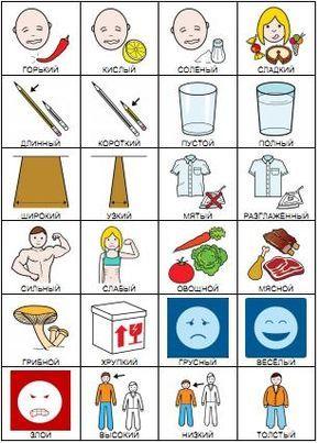 Карточки пекс - свойства предметов