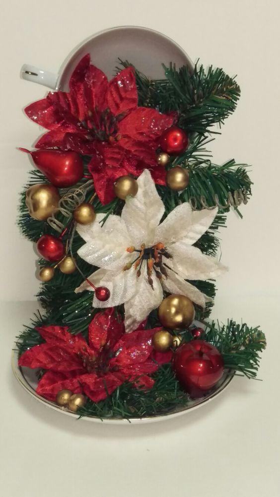 Um Blog De Passo A Passo Dicas E Ideias Cha De Natal Copos