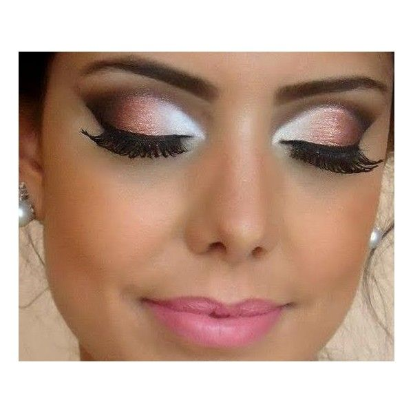 """I chose this photo because you can see the same exact idea of """"highlight and shadow"""" being used on the eyes as well.  Since the dark color is towards the outside of the eye with a very bright highlight towards the inside, this would create a much larger eye.  Even though they used actually eyeshadow colors, it is the same idea as using our highlight and shadow."""