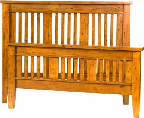 This great mission style bed frame is made purely from for Mission style bed frame plans
