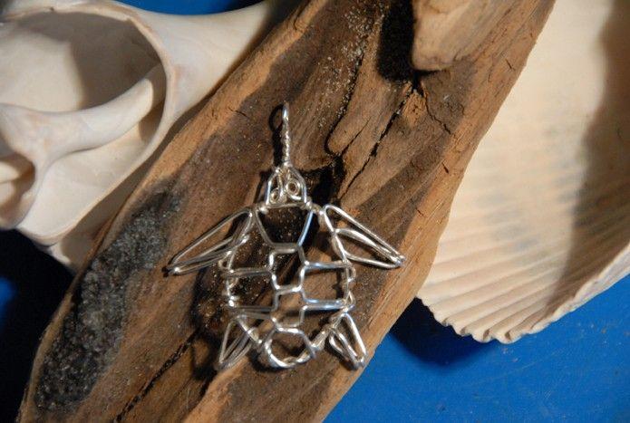 Wire Turtle Pendant