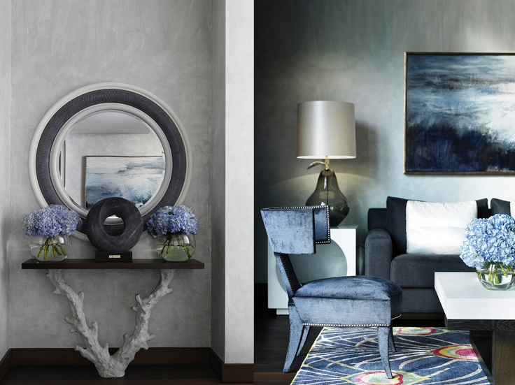 Foyer Luxury Nails : Hall living room soft blues and greys home decor