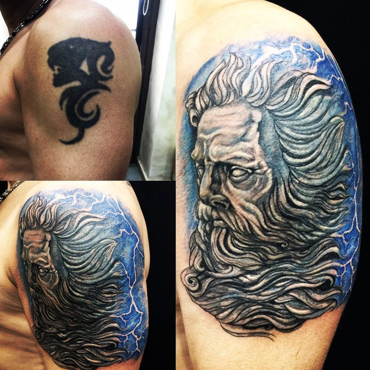 #tattooando #robertoastore #coverup #beforeaftertattoo #poseidontattoo # colortattoo #tattoo