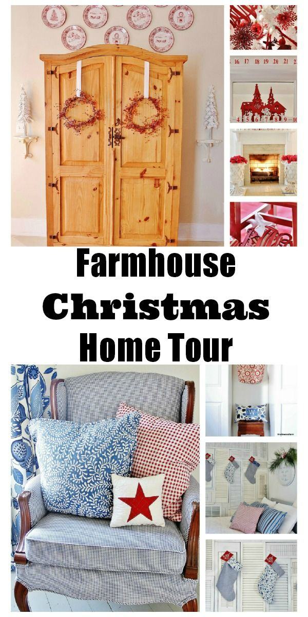 Christmas Home Tour! So many great ideas and inspiration for decking your home for the holidays on a budget! thistlewoodfarms.com