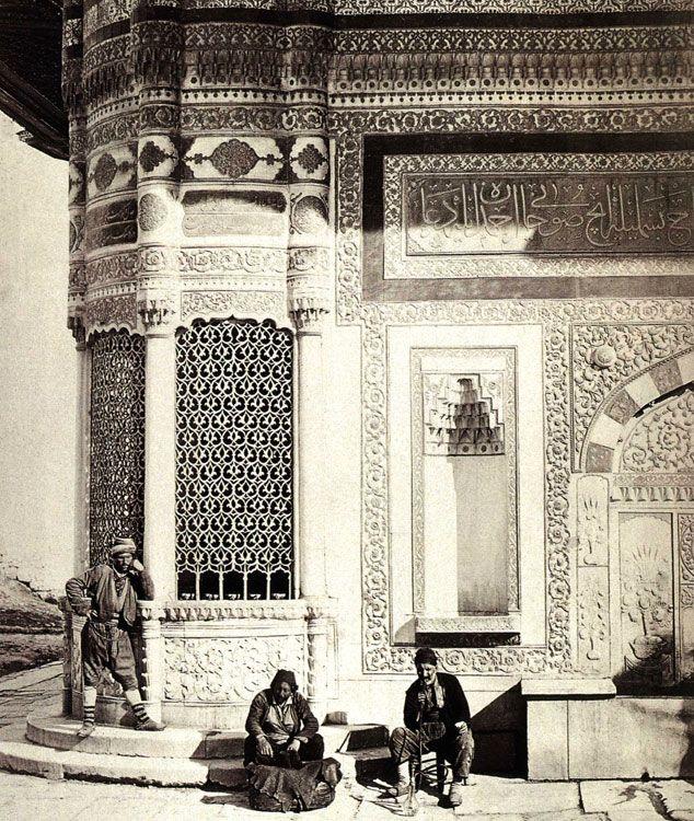 1860 Pascal Sébah, photographe turc La fontaine du Sultan Ahmet III
