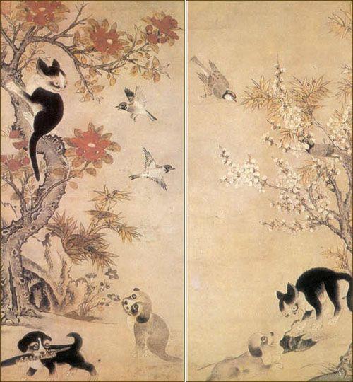 Korean painting by Yi Am (16 century)