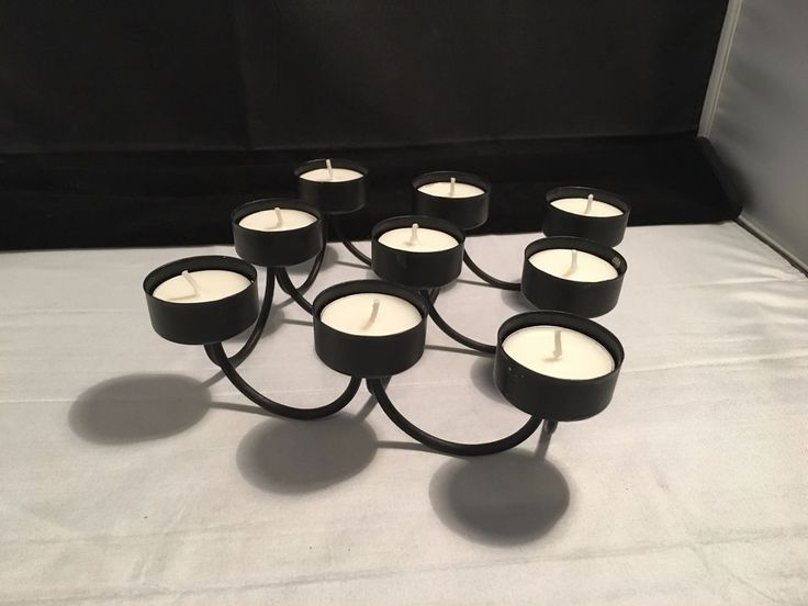 Candle Holder for 9 Tea Light Candles – Metal Crafted  with Vanilla Candles in Home & Garden, Home Décor, Candle Holders & Accessories   eBay!