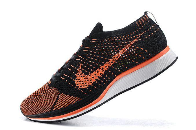 Buy Nike Flyknit Racer Total Orange Black Noir White blanc Youth Big Boys  Shoes 64a7b5ca5497