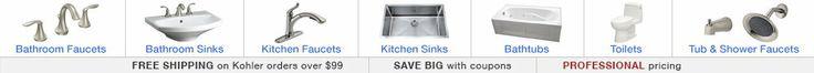 Faucets, Kitchen Faucets, Bathroom Fixtures, Sinks & Faucet Parts - FaucetDirect.com
