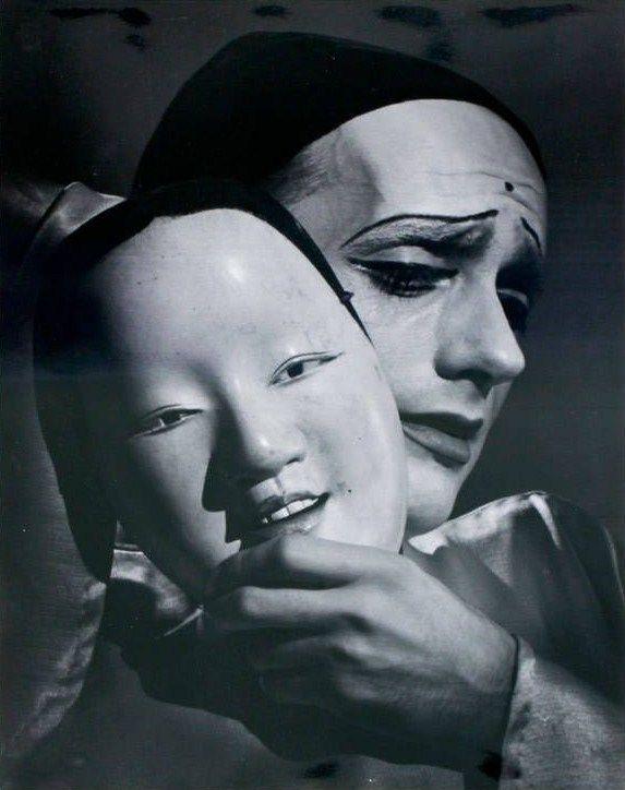 OTTO STEINERT  |  LES DEUX MASQUES DU  PIERROT | 1949  |    #OttoSteinert  #Pierrot