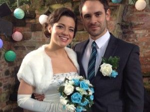 Joe and Lindsey Hollyoaks wedding - love the flowers!!
