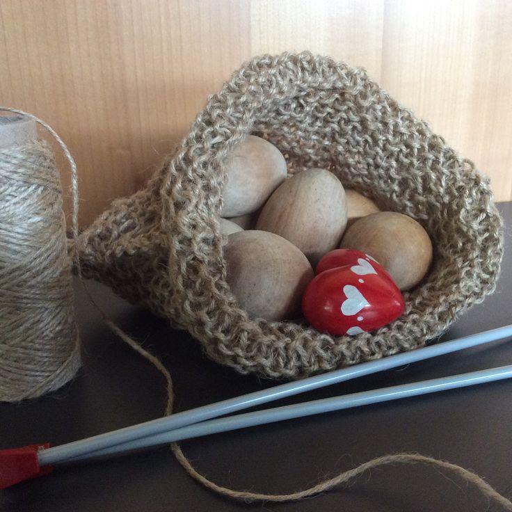 #knitted #string #bag #knitting #craft