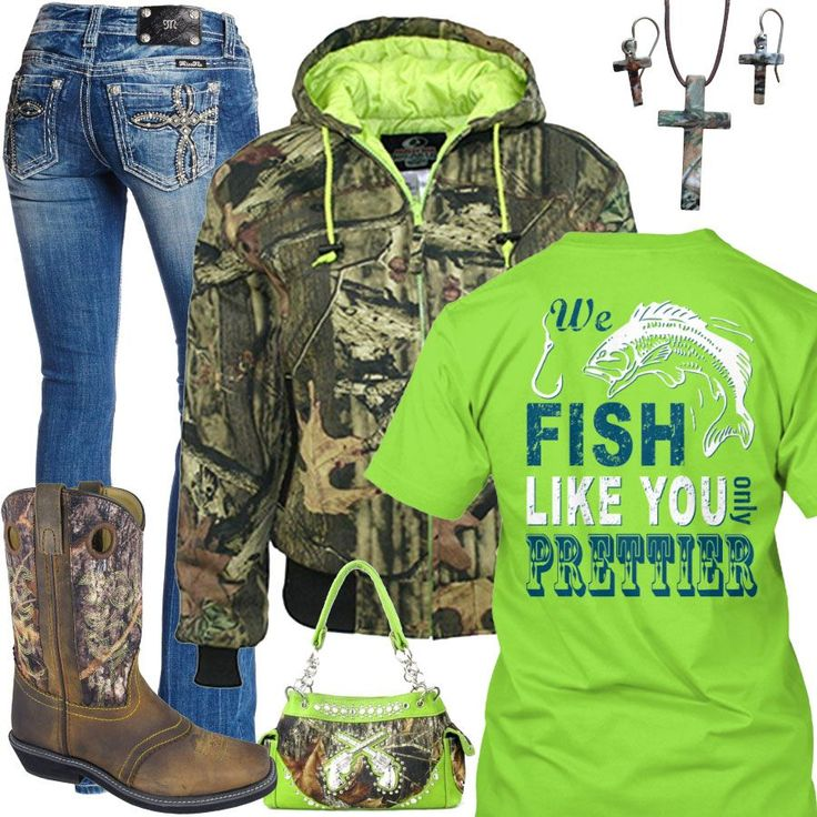 Fish Like You Only Prettier Lime Outfit - Real Country Ladies