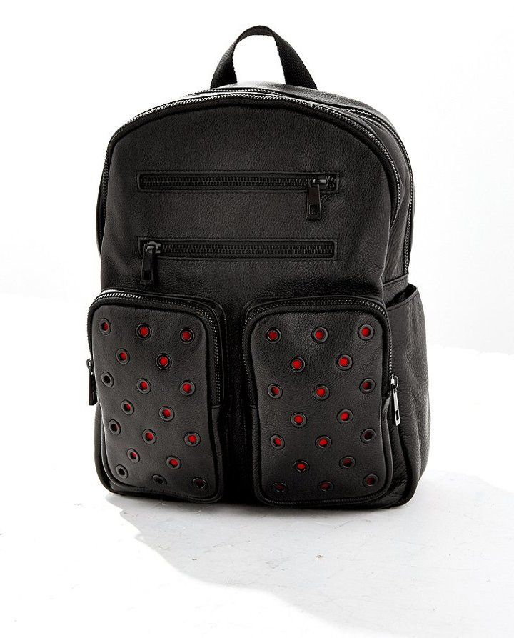 Leather Grommet Backpack  ON SALE: Was $180.00 Reduced to: $49.99  72% OFF