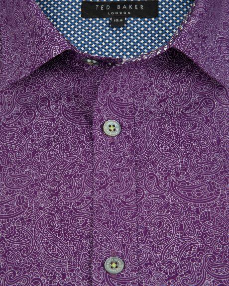 Paisley print shirt - Purple | Shirts | Ted Baker