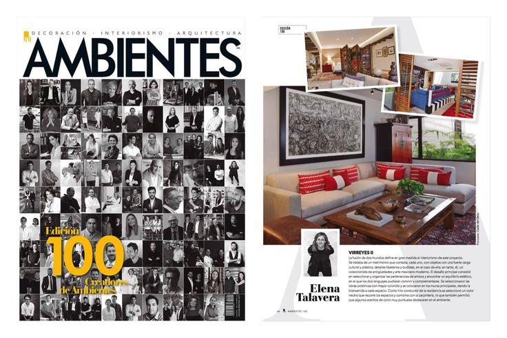 Felices de ser parte de esta increíble edición de @revistaambientes #interiores #interiordesign #diariodeunadiseñadora