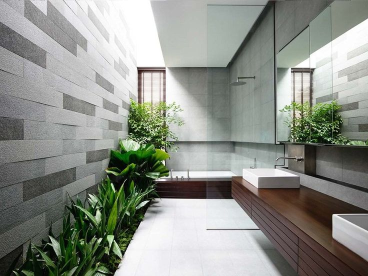Como e por que fazer um jardim aberto no banheiro