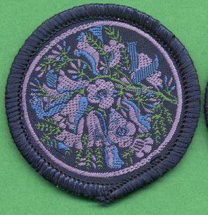 Vintage Girl Guide patrol badge - Jacaranda