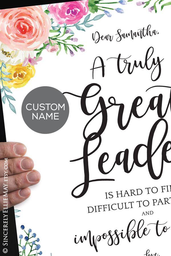 Leadership Gifts Appreciation Leader Wall Art Personalization