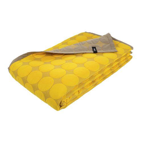 Mega Dot Yellow Bed Cover - Hay