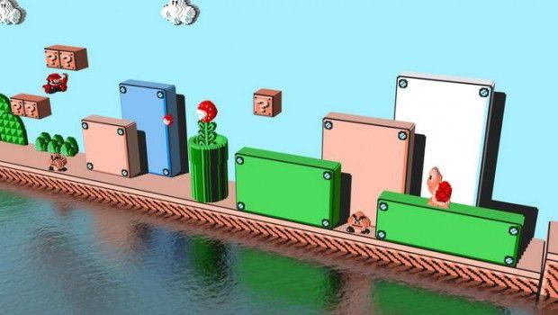 Old School Mario Games In 3D By Justin Buonvino