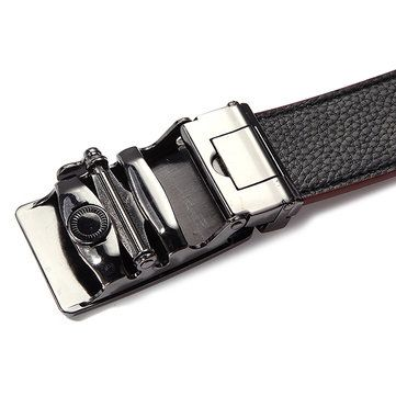 Men Crocodile Aligator Grain Pattern Peritioneal PU Leather Belt Automatic Buckle Pants Strap at Banggood
