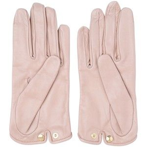 MARIO PORTOLANO Nappa Leather Gloves - Light Pink